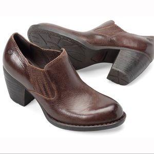Børn Oliva Leather Heeled Boot Slip On Size 9.5M
